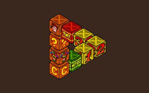 Picture Minimalism, Box, Art, Videogames, Crash Bandicoot, Game Art, Boxes, Bandicoot, by Ronnie Araya, Nextodie, Ronnie ...