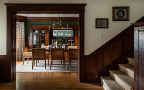 Picture style, interior, ladder, dining room, entrance hall, Elegant Home