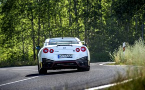 Picture white, Nissan, GT-R, ass, R35, Nismo, 2020, 2019