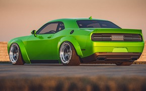 Picture Auto, Green, Machine, Dodge Challenger, SRT, Muscle, Transport & Vehicles, by Cameron Parmer, Cameron Parmer, …