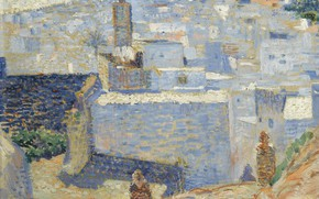 Picture picture, 1888, Theo van Rysselberghe, Theo van Reysselberge, A city in Morocco