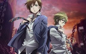 Picture anime, guys, Mahiro Fuwa, Zetsuen No Tempest, Yoshino Takigawa