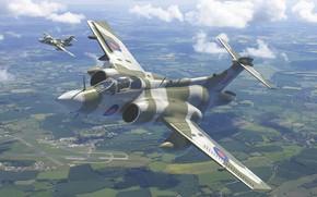 Picture Blackburn Buccaneer, Royal air force UK, British double deck attack