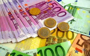 Picture Euro, coins, bills, fon, euro, banknotes, coins