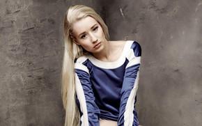Picture look, pose, background, wall, model, portrait, makeup, hairstyle, blonde, singer, Iggy Azalea, Iggy Azalea