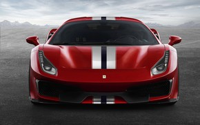 Picture red, Ferrari, 2019, V8 twin turbo, 488 Pista
