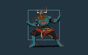 Picture Minimalism, Figure, Monster, Warrior, Art, Berserker, Concept Art, Viking, Viking, Louis Picard, by Louis Picard, …