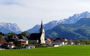 Picture mountains, Austria, Alps, Church