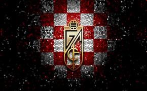 Picture wallpaper, sport, logo, football, La Liga, glitter, checkered, Granada