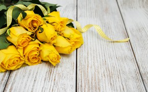 Picture roses, bouquet, yellow, yellow, flowers, roses