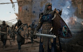 Picture castle, the game, sword, battle, attack, game, knight, screenshot, For Honor, For Honor