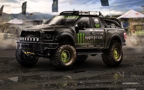 Picture Auto, Black, Machine, Tuning, Art, Art, Raptor, SUV, Monster energy, Off-road, Transport & Vehicles, Emil …