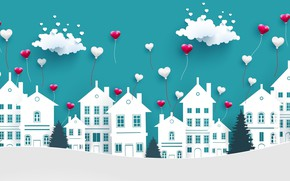 Picture love, background, hearts, Valentine's day