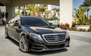 Picture Mercedes, Maybach, Black, W222, LED