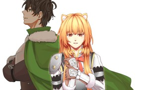 Picture girl, white background, guy, The Rising of the Shield Hero