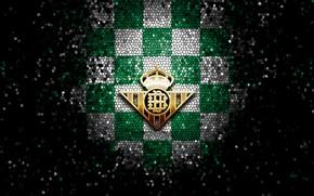 Picture wallpaper, sport, logo, football, La Liga, glitter, checkered, Real Betis