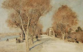 Picture landscape, picture, Jean-Francois Raffaelli, Jean-François Raffaëlli, Bank Of The Seine