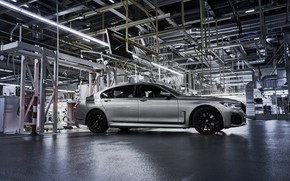 Picture plant, BMW, sedan, shop, production, four-door, G12, G11, 7, 7-series, gray-silver