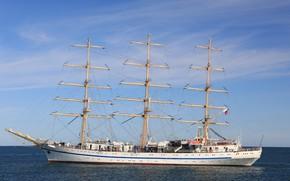 Picture ship, sailing, Hersonissos, author Novice1975