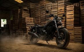 Wallpaper motorcycle, Honda, Honda, 2018, cruiser, Honda Rebel 500