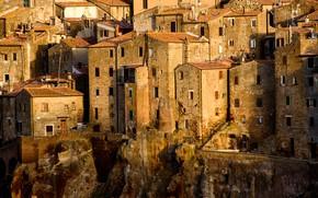 Picture home, Italy, Tuscany, Pitigliano