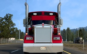 Picture road, CA, tractor, Trak, W900L, Kenworth, Kenworth