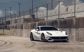Picture Ferrari, Italy, White, Scuderia, Berlinetta, F12