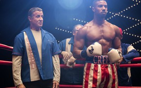 Picture background, coach, Sylvester Stallone, Boxing, student, Michael B. Jordan, Actors, Creed 2, Creed 2, Rocky …