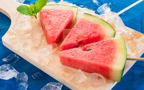 Picture ice, Watermelon, slices