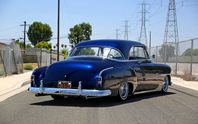 Picture Chevrolet, Blue, Old, Custom, Deluxe