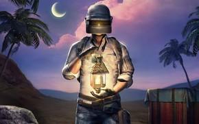 Picture lantern, helmet, guy, PlayerUnknown's Battlegrounds