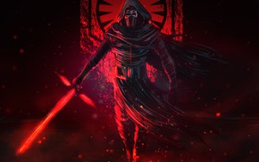 Picture Kyle Wren, Art, Fantasy, Kylo Ren, Lightsaber, Characters, Sword, by Sam Rivera, Sith, Star Wars, …