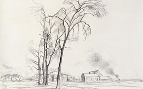 Picture 1927, Charles Ephraim Burchfield, Young Elms