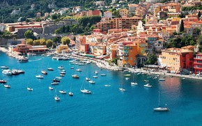 Picture sea, the city, France, home, yachts, pier, promenade, Nice, NIS