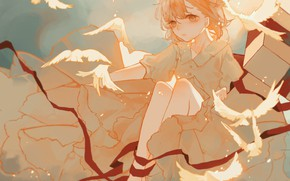 Picture anime, dress, girl