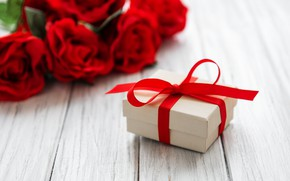 Picture gift, roses, bouquet, Beauty, congratulations, Box, Gift, Olena Rudo