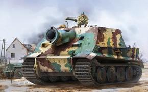 Picture SAU, 38 cm RW61 on assault mortar Tiger, Shturmtigr, Storm Panzer VI, Storm tiger, German …