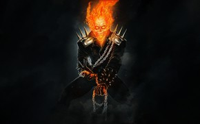 Picture Skull, Fire, Chain, Ghost Rider, Ghost rider, Flame, Fantasy, Fire, Art, Flame, Ghost, Illustration, Demon, …