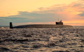 Picture underwater, cruiser, atomic, Prince Vladimir