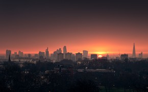 Picture the city, dawn, morning, sunrise