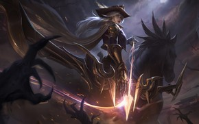 Picture look, girl, hat, Diana, League Of Legends, League Of Legends