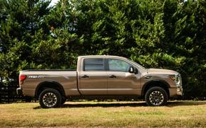 Picture Nissan, pickup, in profile, Titan, 2020, Titan XD PRO-4X