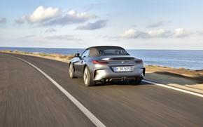 Picture road, asphalt, grey, markup, coast, BMW, Roadster, BMW Z4, M40i, Z4, 2019, G29