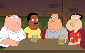 Picture Table, Beer, Bar, Family guy, Family Guy, Cartoon, Brown, Cleveland, Peter, Joe, Cleveland, Joe, Glenn, …
