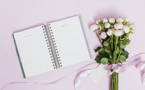 Picture roses, bouquet, Notepad