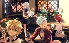 Picture friends, tavern, Nanatsu no Taizai, The seven deadly sins