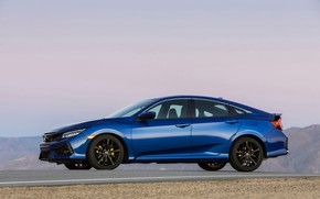 Picture blue, Honda, sedan, side view, Civic, 2020, 2019, You Sedan