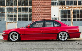 Picture BMW, RED, 7-Series, E38