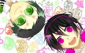 Picture face, drawings, guys, Durarara, Durarara, Of Izaya Orihara, Mikado Ryugamine