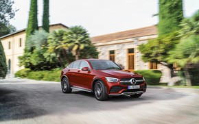Picture trees, movement, Mercedes-Benz, coupe, crossover, GLC